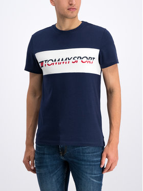 Tommy Sport Tommy Sport T-Shirt S20S200082 Granatowy Regular Fit