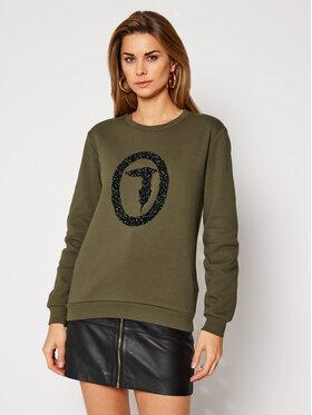 Trussardi Jeans Trussardi Jeans Sweatshirt 56F00100 Grün Regular Fit