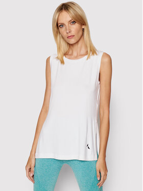 Carpatree Carpatree Technisches T-Shirt Slit CPW-SHI-1001 Weiß Regular Fit