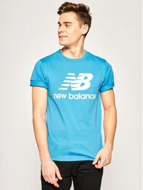New Balance New Balance Tricou Essentials Stacked Logo Tee MT01575 Albastru Athletic Fit