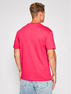 Tommy Jeans Tommy Jeans T-Shirt Gel Linear Logo DM0DM10702 Różowy Regular Fit