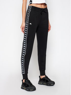 Kappa Kappa Teplákové nohavice Honika 308105 Čierna Regular Fit