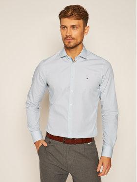 Tommy Hilfiger Tailored Tommy Hilfiger Tailored Košile Micro Print Classic TT0TT07604 Tmavomodrá Slim Fit
