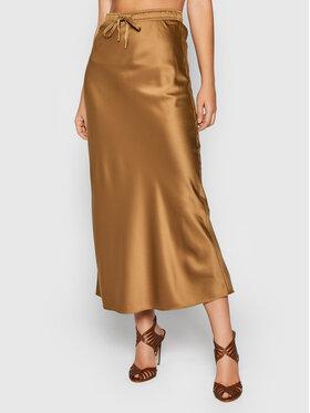 Marella Marella Trapézová sukňa Treccia 31060219 Hnedá Regular Fit