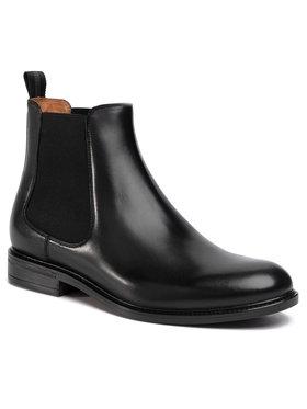 Gino Rossi Gino Rossi Kotníková obuv s elastickým prvkem Chuck MSU350-545-0722-9900-0 Černá