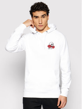 Vans Vans Majica dugih rukava Rose Bed VN0A54AK Bijela Regular Fit