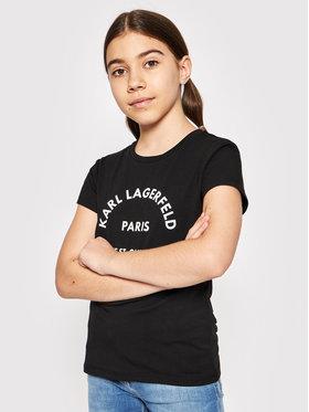 KARL LAGERFELD KARL LAGERFELD T-shirt Z15M59 S Crna Regular Fit