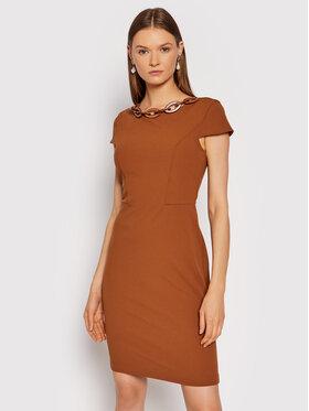 Rinascimento Rinascimento Sukienka koktajlowa CFC0105031003 Brązowy Regular Fit