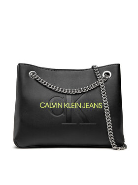 Calvin Klein Jeans Calvin Klein Jeans Τσάντα Sculpted Conv Shoulder Bag Mono K60K608690 Μαύρο