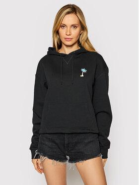Wrangler Wrangler Sweatshirt Drawcord W6Q7HAXV6 Schwarz Boxy Fit