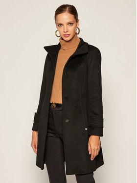 Pennyblack Pennyblack Gyapjú kabát Cloruro 20140420 Fekete Regular Fit