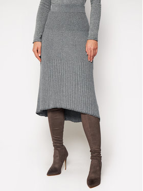 Calvin Klein Calvin Klein Midi szoknya Knitted K20K202328 Szürke Regular Fit