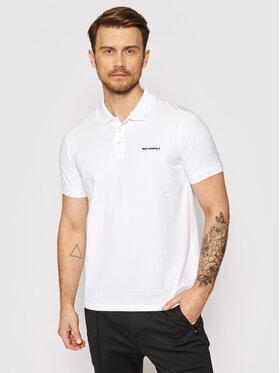 KARL LAGERFELD KARL LAGERFELD Тениска с яка и копчета 745015 511221 Бял Regular Fit