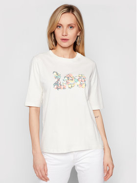 Lee Lee T-shirt Graphic L44JEPNQ Bež Relaxed Fit