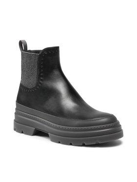 Max Mara Max Mara Členková obuv s elastickým prvkom Atwoopv 47961517600 Čierna