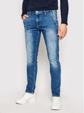 Guess Guess Jeansy Skinny Fit Adam M1RA81 D4B71 Granatowy Skinny Fit