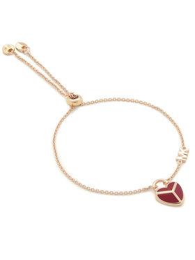 Michael Kors Michael Kors Náramok Enamel Heart Slider MKC12899S791 Zlatá