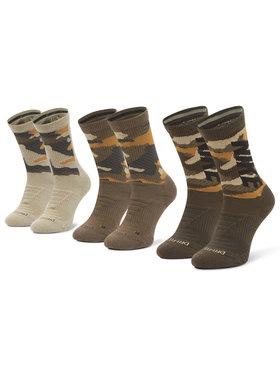 Nike Nike Комплект 3 чифта дълги чорапи мъжки CW0780 903 Зелен