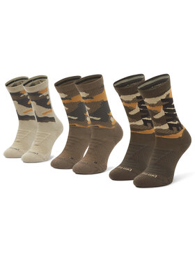NIKE NIKE Σετ 3 ζευγάρια ψηλές κάλτσες unisex CW0780 903 Πράσινο