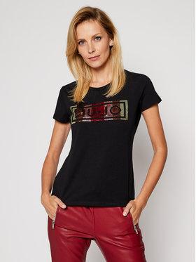 Liu Jo Sport Liu Jo Sport T-Shirt TF0063 J0088 Czarny Regular Fit