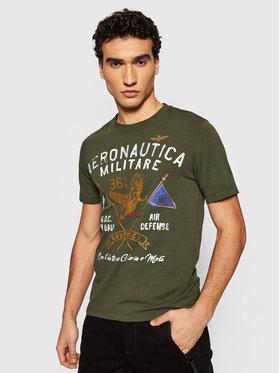 Aeronautica Militare Aeronautica Militare T-shirt 211TS1860J469 Vert Regular Fit