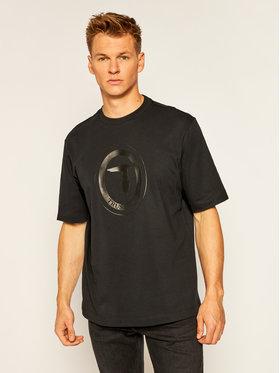 Trussardi Jeans Trussardi Jeans T-Shirt 52T00398 Μαύρο Over Fit