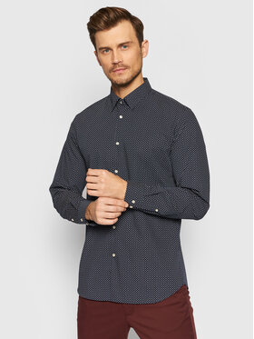 Selected Homme Selected Homme Chemise Michigan 16073122 Bleu marine Slim Fit