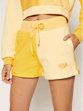 Guess Guess Sportske kratke hlače J BALVIN Colour-Block W0FQ64 RA1B0 Žuta Slim Fit