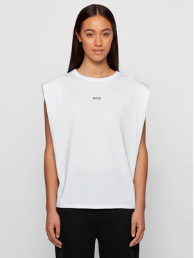 Boss Boss T-Shirt C_Elys_Active 50457380 Bílá Relaxed Fit
