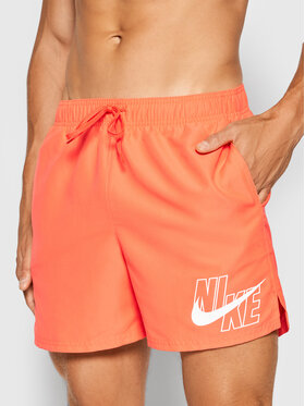 Nike Nike Szorty kąpielowe Logo Lap 5 NESSA566 Czerwony Standard Fit