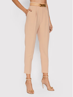Elisabetta Franchi Elisabetta Franchi Spodnie materiałowe PA-391-16E2-V280 Beżowy Regular Fit