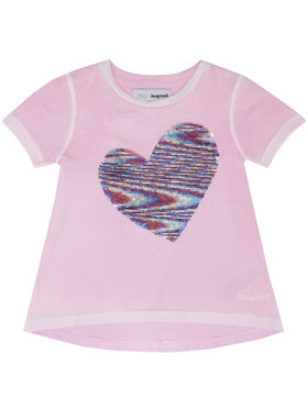 Desigual Desigual T-Shirt Ipswich 20SGTK54 Różowy Regular Fit