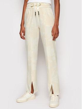 Desigual Desigual Teplákové kalhoty Pintuck Camo 21SOPK10 Žlutá Comfort Fit