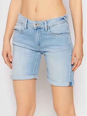 Pepe Jeans Pepe Jeans Szorty jeansowe Poppy Pride PL800910 Niebieski Regular Fit