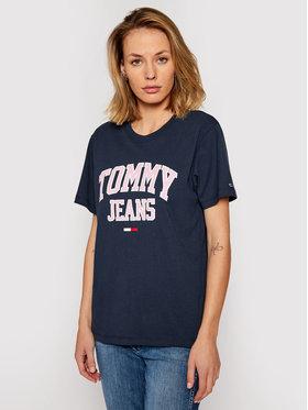 Tommy Jeans Tommy Jeans T-shirt Tjw Collegiate Logo DW0DW09075 Blu scuro Regular Fit