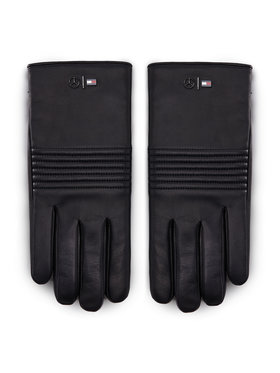Tommy Hilfiger Tommy Hilfiger Guanti da uomo LEWIS HAMILTON 2Mb Leather Gloves AM0AM06788 Nero
