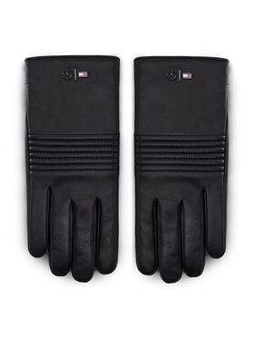Tommy Hilfiger Tommy Hilfiger Pánské rukavice LEWIS HAMILTON 2Mb Leather Gloves AM0AM06788 Černá