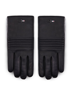 Tommy Hilfiger Tommy Hilfiger Pánske rukavice LEWIS HAMILTON 2Mb Leather Gloves AM0AM06788 Čierna