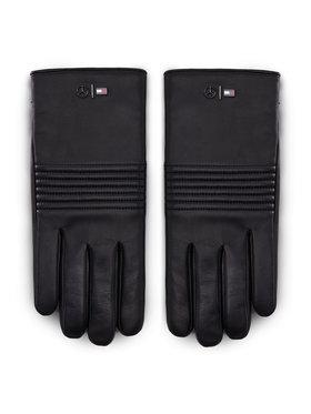 Tommy Hilfiger Tommy Hilfiger Vyriškos Pirštinės LEWIS HAMILTON 2Mb Leather Gloves AM0AM06788 Juoda