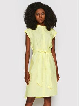 Tommy Hilfiger Tommy Hilfiger Marškinių tipo suknelė Oxford WW0WW30596 Geltona Relaxed Fit