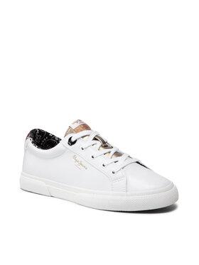 Pepe Jeans Pepe Jeans Sneakers aus Stoff Kenton Plain PLS31235 Weiß