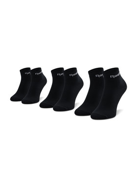Reebok Reebok Комплект 3 чифта къси чорапи унисекс Act Core Ankle Sock 3P GH8166 Черен