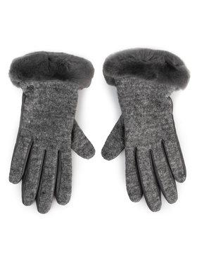 Ugg Ugg Dámské rukavice W Fabric Lthr Shorty Glove 18813 Šedá