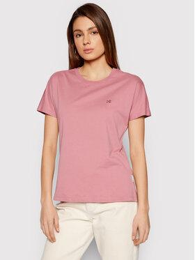 Napapijri Napapijri T-Shirt Salis NP0A4FAC Różowy Regular Fit