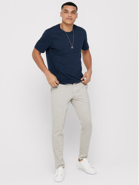 Only & Sons ONLY & SONS Текстилни панталони Mark 22015833 Бежов Tapered Fit