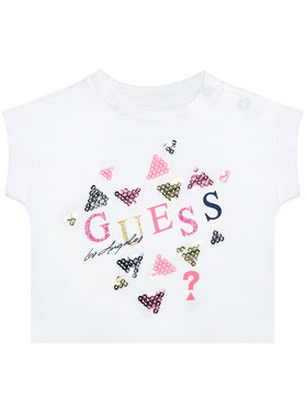 Guess Guess Marškinėliai K1GI03 K6YW1 Balta Regular Fit