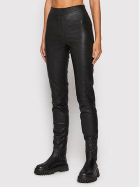 Remain Remain Spodnie skórzane Snipe RM774 Czarny Slim Fit