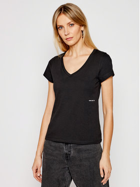 Calvin Klein Jeans Calvin Klein Jeans Marškinėliai J20J215704 Juoda Regular Fit