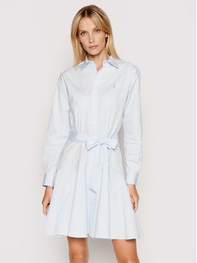 Polo Ralph Lauren Polo Ralph Lauren Košeľové šaty Lsl 211838048001 Modrá Regular Fit