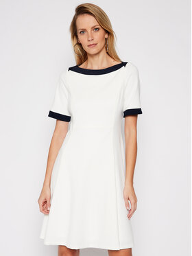 DKNY DKNY Коктейлна рокля DD0K1503 Бял Regular Fit